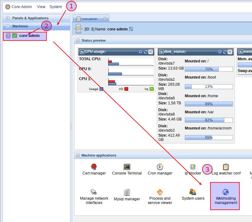 Core-Admin Web Edition « Core-Admin